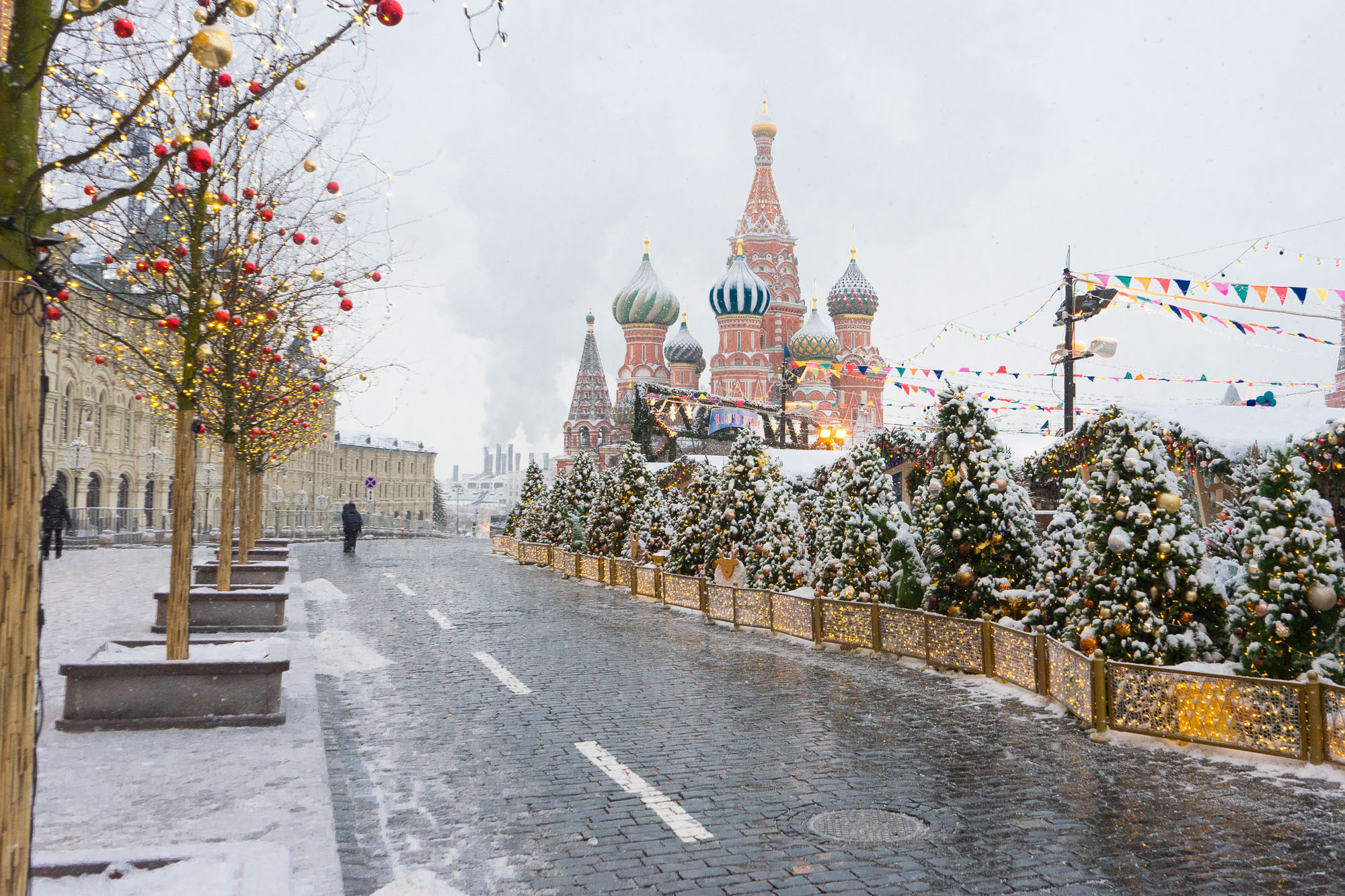 Red Square in the winter 2018